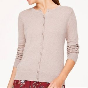 Loft Outlet Crew Neck Cardigan